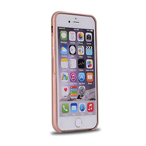 """HYAIT® For IPHONE 6 PLUS 5.5"""" Case[PU][Credit Card Slots] Dual Layer Hybrid Armor Rugged Plastic Hard Shell Flexible TPU Bumper Protective Cover-PUE02 BHE04"""