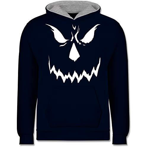 Shirtracer Anlässe Kinder - Scary Smile Halloween Kostüm - 12-13 Jahre (152) - Navy Blau/Grau meliert - JH003K - Kinder Kontrast ()