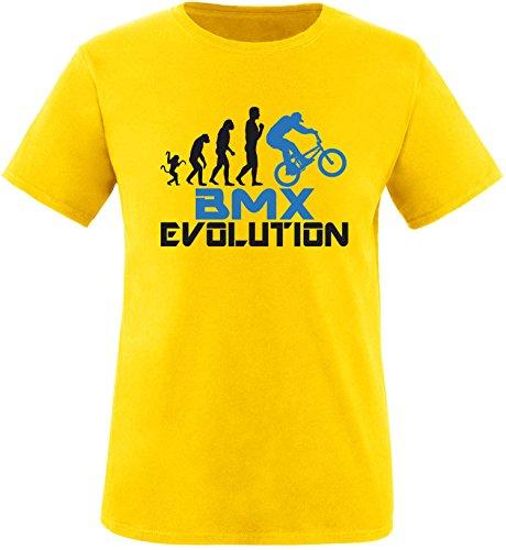 EZYshirt® BMX Evolution Herren Rundhals T-Shirt Gelb/Schwarz/Blau