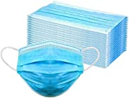 Roseate Mr Mask Disposable, Pack of 100 with Nose Pin Non-Woven fabric Anti Pollution Surgical 3Ply Face Mask