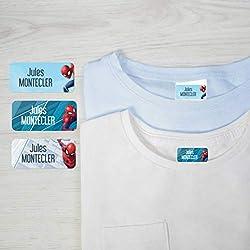 36 Étiquettes pour vêtements Ludisticks Marvel Spiderman par Ludilabel   Haute Qualité Fabrication 100% Française   Étiquettes vêtements enfants résistantes et faciles à coller.