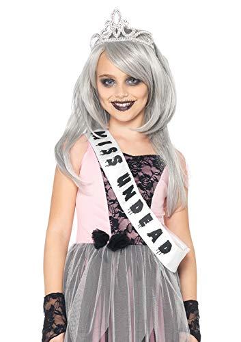 Prom Queen Kostüm Halloween - Leg Avenue C48170 - Zombie Prom Queen Kostüm Set, Größe L, rosa/schwarz