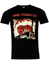 Rise Against Smoke Stacks Official Band T-Shirt Mens Black Music Top Tee T Shirt