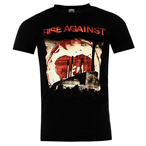 Rise Against Smoke Stacks Offizielle Band T-Shirt Herren BLACK MUSIC Top Tee T Shirt M (Against Bands Rise)