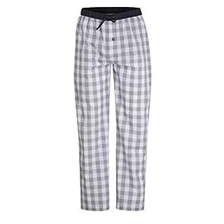 Ceceba Herren Lange-Hose, Schlafhose, Pyjama-Hose - Baumwolle, Popeline, blau, kariert, mit Eingriff 52