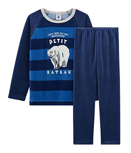 Petit Bateau Jungen Pyjama_5005501 Zweiteiliger Schlafanzug, Mehrfarbig (Medieval/Major 01), 140 (Herstellergröße: 10ans/140cm)