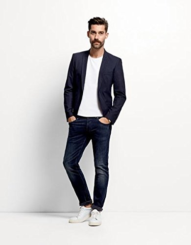 SELECTED HOMME Herren Straight Leg Jeanshose Three Dean 4164 Dark Jeans Noos I Blau (Dark Blue Denim none)