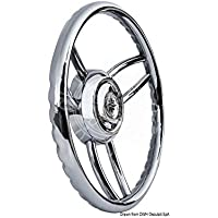 Volante Bliz inox English: Blitz steering wheel w/SS outer ring