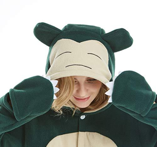 Jumpsuit Tier Pyjama Snorlax Onesie Fasching Halloween Kostüm Schlafanzug Cosplay Pyjama Erwachsene Damen Karneval Einteiler M