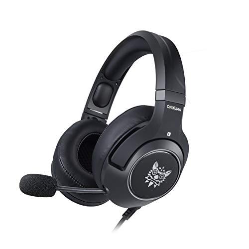 ONIKUMA K9 Tragbare Anti-Lärm Super Bass Stereo Kopfhörer Laptop Computer Spiel Headset mit Mikrofon Dehnbar Stirnband - Schwarz