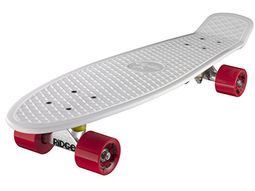 Ridge Skateboard Big Brother Nickel 69 cm Mini Cruiser, weiß/rot (Big-brother-star)