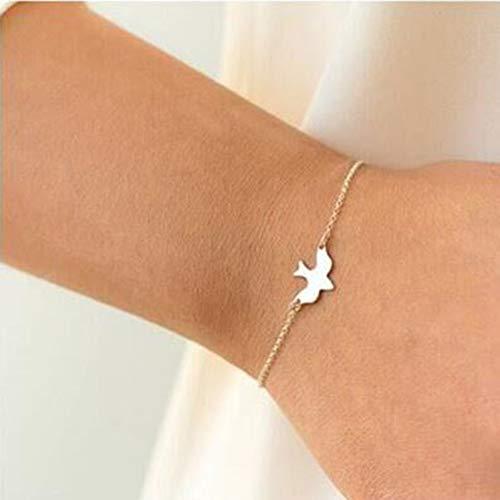 QUNIMD Armband Schwalbe Baby Vogel Paar Armband Schmuck Freundschaft Geschenk, G (Kristall Quarz Vogel)