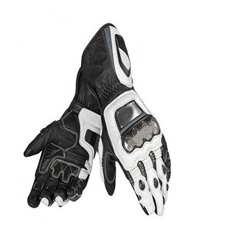 MYSdd Nuovo per i guanti da corsa da motociclista da uomo in metallo per fuoristradaWhiteXL