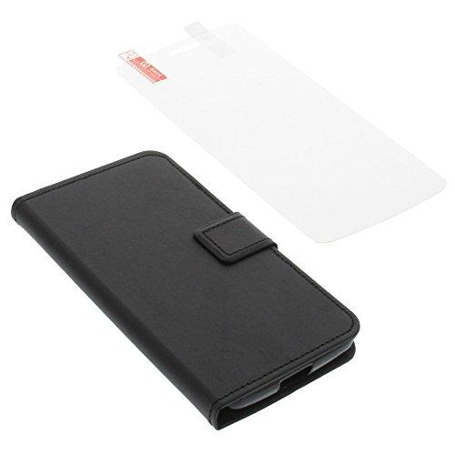 foto-kontor Tasche für Elephone P8000 Book Style schwarz Schutz Hülle Buch + Schutzfolie