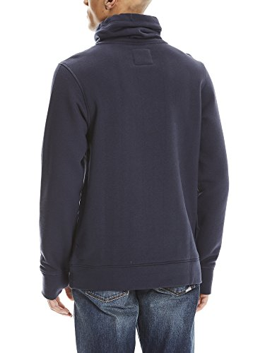 Bench Herren Sweatshirt Sweat High Neck Blau (Dark Navy Blue Ny031)