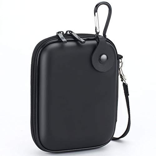 Stoßfeste EVA-Festplatten-Schutzbox für 2,5 Zoll HDD SSD von 500 G 1 TB 2 TB, tragbares Schutzkabel Zubehör Organizer Tasche Schwarz