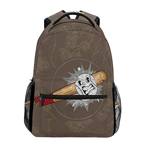 Baseball Braun Schulter Student Rucksacks Bookbags Kinderrucksack Büchertasche Rucksäcke für Teen Mädchen Jungs