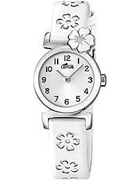 Lotus 18174/1 - Reloj de niña de cuarzo, correa blanca. Ideal Comunión.