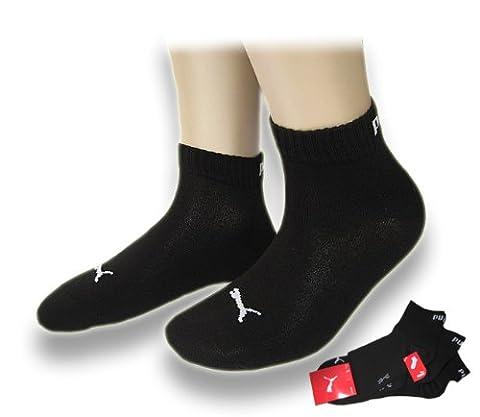 6Paar Puma Sneaker Quarter Socken Unisex Invisible 251015, Gr. 39-42, schwarz