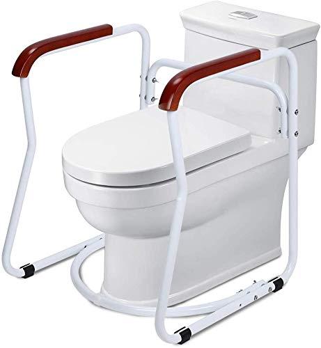 Harrier Toilettengestell, Toilettengestell Rutschfest Sicherheitsgestelle für Toiletten WC-Aufstehhilfe Badezimmer Toiletten Sicherheits Haltestange für Senioren