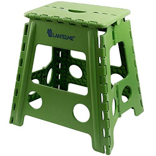 Lantelme Klapphocker faltbar Kunststoff Hocker Farbe grün Sitzhocker Kinder Sitz Tritthocker Höhe 40 cm 4794