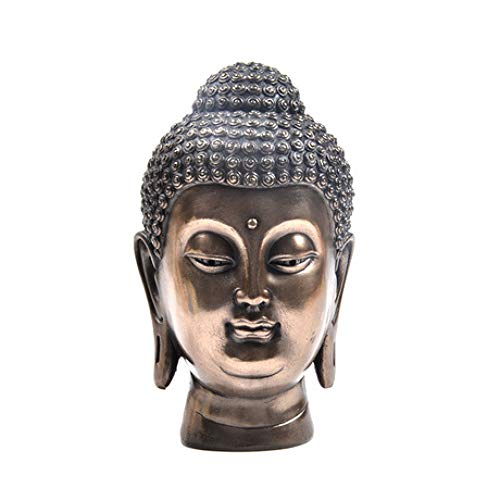 ZY&ZQ Estatua Buda/Meditación Buda/Cabeza/Sala Estar