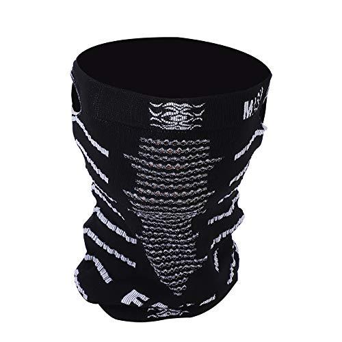 Alomejor Skimaske Kälteschutz Gesichtsmaske Antistaub Wärmehaltungsmaske für Hals Gesicht Mundschutz beim Radfahren Skifahren Snowboard(Schwatz Weiß)