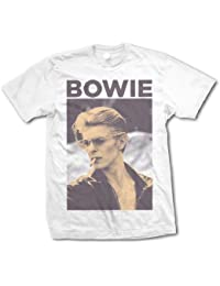 David Bowie Smoking Official Mens New White T Shirt All Sizes