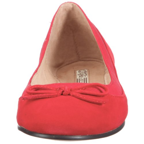 Buffalo London 207-3562 KID SUEDE RED154 116607, Ballerine donna Rosso