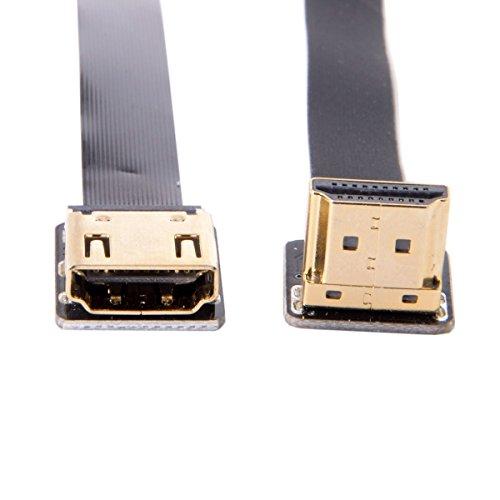 cablecc cyfpv bis Winkel 90Grad HDMI Männlich Zu Weiblich FPC Flach Kabel für HDTV Multicopter Aerial Photography 20cm Hdmi-hdmi-flachkabel