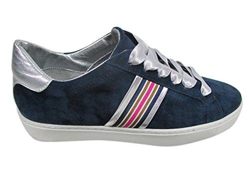 Maripe Damen 26210-P Sneaker, Blau (Camoscio 1215), 37 EU