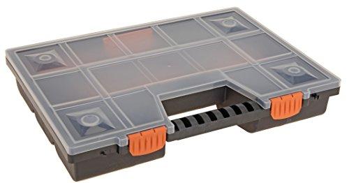 hibuy Sortierkoffer Utensilienbox Kleinteilemagazin mit Fächer individuell teilbar für Kleinteile & Werkzeug 39 x 29 x 5 cm