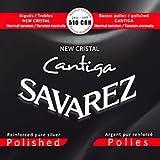 Savarez 510 CRH New Cristal CANTIGA Polished Satz, Normal Tension (rot)