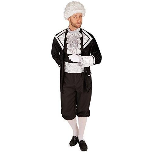 Dressforfun costume da uomo - conte barocco | magnifica giacca e comodi pantaloni | con calze e fascia in vita (xl | no. 301402)