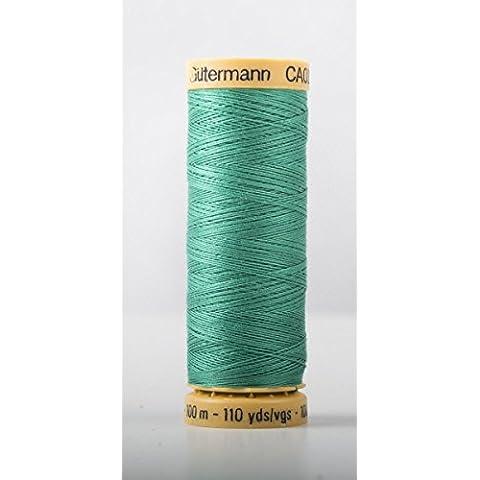 Gutermann cotone naturale 100m Quilting macchina da cucire per cucire blu–6934 - Naturale Di Cotone Per Cucire