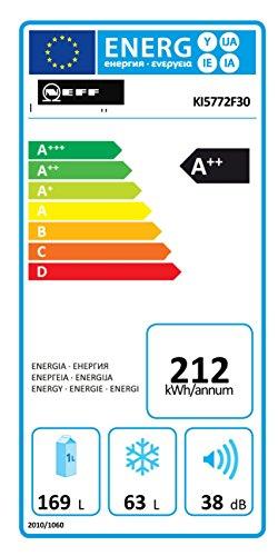 Neff KG615A2 Einbau-Kühl-Gefrierkombination / 158 cm / A++, / Kühlteil: 169 Liter / Gefrierteil: 63 Liter / Flachscharnier
