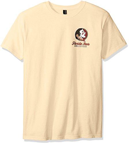 New World Grafiken Florida State NCAA Oval Label Short Sleeve, Unisex, Florida State Oval Label, Grün (Vegas Gold) -