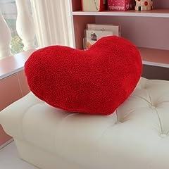 Idea Regalo - Tankerstreet Cuscino a Forma di Cuore Cuscino Bambini Morbido Cuscino Regalo Ideale per San Valentino, Compleanno, Natalizio