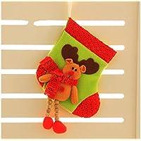 Hermosa decoración navideña Long Legs Elk Christmas Stockings Candy Bag Gift Bag Árbol de Navidad Colgante