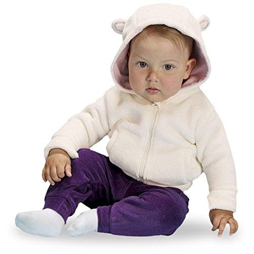 LUPILU® Baby Teddyjacke, mit Kapuze (Off White/Rosa, Gr. 74/80)
