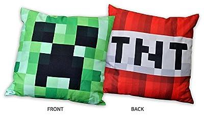 Minecraft Creeper TNT Kissen Dekokissen Zierkissen 40x40cm