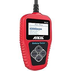 ANCEL BA101 Testeur de Batterie Auto Professionnel 12 V 100-2000 CCA 30AH-220AH Automobile Test Alternateur Analyseur Numérique Outil de Test de Batterie AGM,Gel,EFP pour Voiture/Bateau/Moto