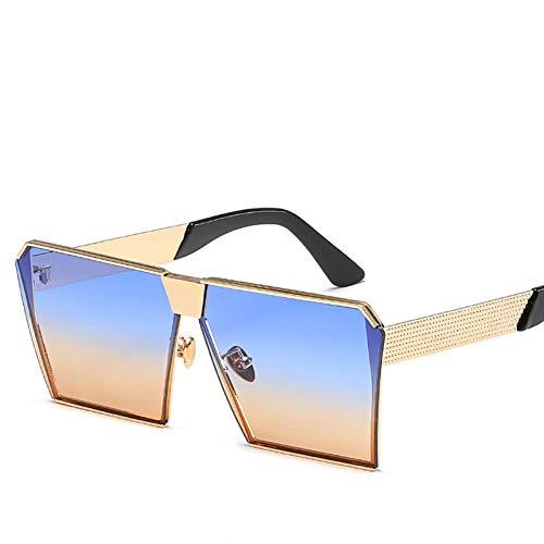 GJYANJING Sonnenbrille New Color Damen Sonnenbrille Einzigartige Oversize Shield Uv400 Gradient Vintage Brillengestelle Für Damen
