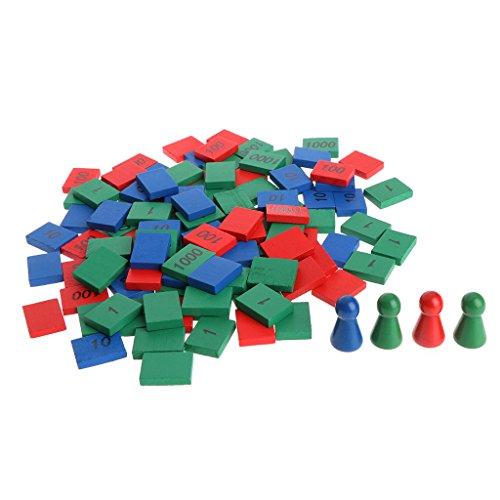 JAGETRADE Montessori Formes Tri Puzzle Géométrie Conseil Éducation Enfants d'âge préscolaire Jouets
