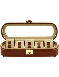 f56b0e4e49b Friedrich rangement avec vitrine Boîte Étui Coffret pour 5 montres en cuir  véritable Box