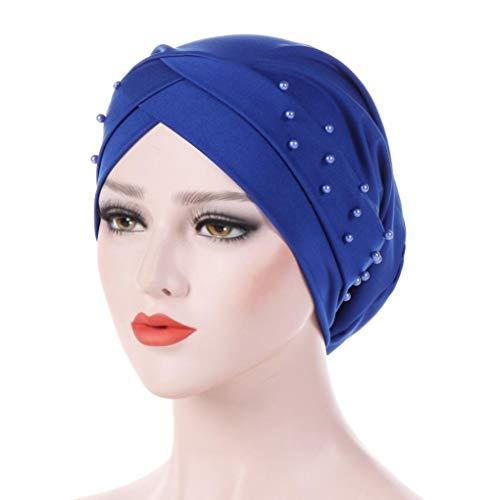 Kinlene Damen Friesen Indien Hut muslimischen Rüschen Krebs Schal Turban Wrap Cap