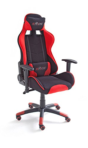 MC Racing 1, Gamingstuhl, Schreibtischstuhl, Bürostuhl, schwarz/rot, 62491SR3, -