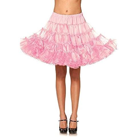 Leg Avenue Deluxe Costume crinolina enagua Mujeres Rose Tamaño