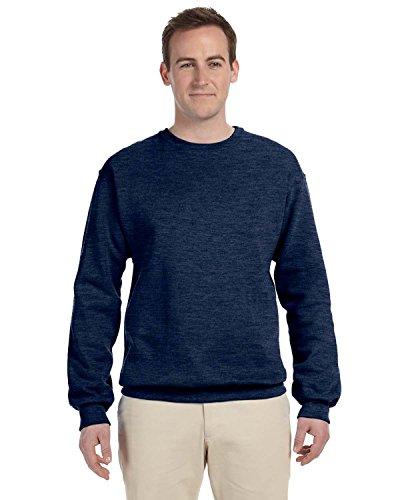 Adult 8 oz., NuBlend� Fleece Crew VINTAGE HTH NAVY XL Scoop Neck Fleece Sweatshirt