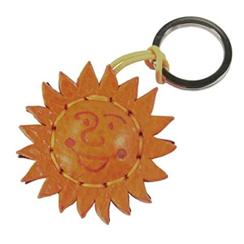 Keyring Genuine Leather Handmade Star Guaranteed 100% made in Italy with 'Toscana Detta